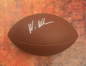 GFA New England Patriots WES WELKER Signed NFL Football COA