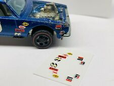 Hot Wheels Redline **NEW**(SPOILER SPONCER DECALS-FRONT FENDER ) PRE-CUT