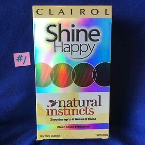 CLAIROL Natural Instincts SHINE HAPPY 00 Clear Hair Shine Treatment NEW~FreeShip