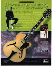 2002 HOFNER Jazzica Electric Guitar BOBBY BROOM Vtg Print Ad