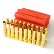10x 4.0mm Gold-plated Bullet Banana Plug Connector RC Battery Plane ESC+ Shell