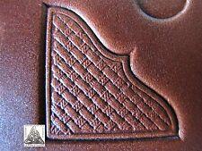 """1999 TLF/Midas Basket Weave Western Corner Border 1"""" Leather Stamp 8535"""