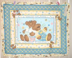 Daisy Kingdom Butterfly Bear Ruffle Baby Handmade Quilt REDUCED