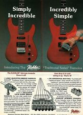 KAHLER PINUP PRINT AD vtg 80's Guitar Tremolo Whammy Bar Traditional Series
