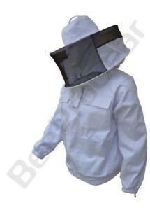Poly Cotton Beekeeping Beekeeper Jacket Bee protective Round veil hat hood