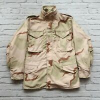 Vintage 1989 Military M-65 Desert Camo Camouflage Field Jacket Size S