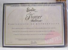MATTEL BARBIE FLOWER BALLERINA DOLL CERTIFICATE OF AUTHENTICITY COA ONLY 2000
