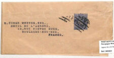 Ah134 Great Britain Stationery 1951 Kgvi 1d Blue Evening News Wrapper Used Ws37