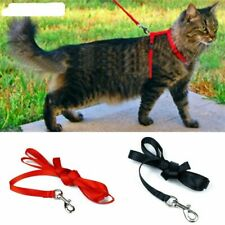 Cat Harness And Leash 3 Colors Nylon Adjustable Pet Traction Harness Belt Collar