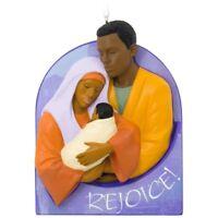 Hallmark Mahogany Rejoice Hallelujah Nativity Holy Family Keepsake Xmas Ornament
