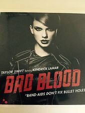 Taylor Swift Kendrick Lamar 'Bad Blood band aids don't fix bullet holes Cd promo