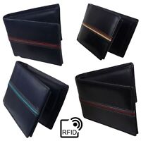 Mens Leather Wallet by London Leathergoods Coin Section RFID Protected