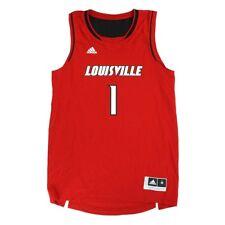 Louisville Cardinals Adidas NCAA #1 Official Basketball Team Red Jersey Men's