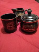 Vintage South Carolina Coffee Cup, Creamer, & Sugar Collectible Kitchen Set Used