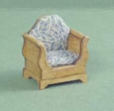 1:48 Dollhouse Miniature Sleigh Chair Kit /Quarter Inch Scale Furniture KBM Q361