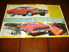 1971 FORD TORINO GT ***ORIGINAL 1986 ARTICLE***