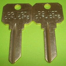 "🔑 Lot of 2 uncut Schlage DND SC1 Brass ""Do Not Duplicate"" Key blanks (2 Keys)"