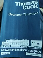 More details for thomas cook overseas timetable march 1985 vintage rail & shipping schedules