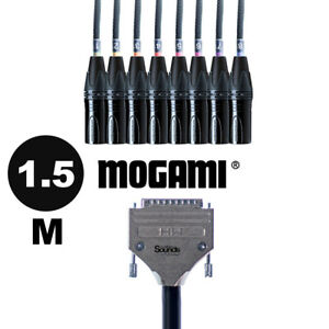1.5M D-Sub Serial DB25 to XLR Male   Mogami Analog Tascam 8 Way Multicore Cable