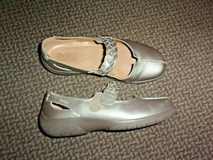 """NEW """"HOTTER"""" SHAKE  BRONZE LEATHER COMFY SHOES UK 4"""