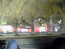 Sunoco Collectable Vintage Rare OOP Animal Drinking Glass Sun Oil Set of 4
