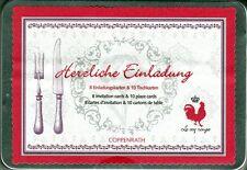 2 x Le Coq Rouge Box Einladungskarten & Tischkarten NEU