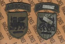 US Army Southern European Task Force SETAF Airborne OD Green & Black BDU patch