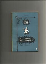 Guide 1958 - Restaurants de tourisme