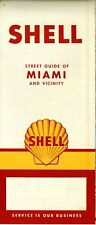 1959 Shell Road Map: Miami NOS