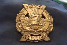 WW II/Post WW II Canadian Silver Cap Badge The Toronto Scottish Regiment (M.G.)