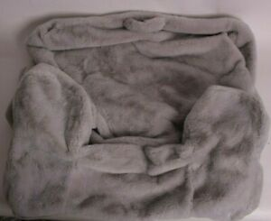 New Pottery Barn Kids Gray Faux Fur anywhere chair slip cover *regular size*