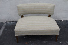 Charming Mid-Century Modern Maple Bench Love Seat, New Upholstery