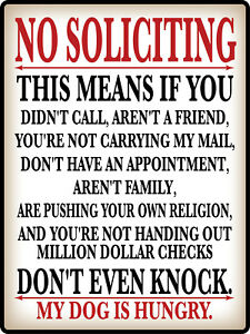 No Soliciting FUNNY Warning Decal Sign STICKER - Do Not Knock - HUMOR GREAT GIFT