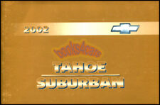 2002 CHEVROLET OWNERS MANUAL TAHOE SUBURBAN HANDBOOK GUIDE CHEVY TRUCK SUV BOOK