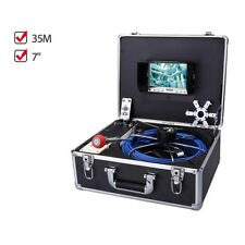 """Eyoyo 35M Cable Under water Pipeline Sewer Inspection Camera 7"""" IP68 Waterproof"""