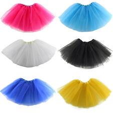 KIDS Girl Tutu Ballet Skirt Tulle Costume Fairy Party Hens Nigh  1X  IO