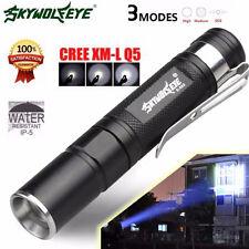 Portable 4000LM Zoom Q5 LED 3 MODU torcia elettrica Super Luminosa LUCE con clip