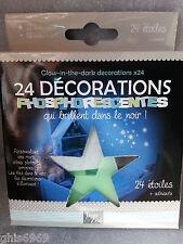décoration phosphorescente, 24 étoiles phosphorescentes, déco phosphorescentes