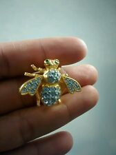 Pretty Joan Rivers  swarovski   crystal pave  bee pin brooch  1 1/4  inches