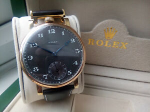 BEAUTIFUL RARE GENTS 1920 ROLEX MILITARY CHRONOMETER, FULLY COMPLETE & SERVICED