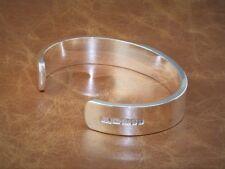 Men's Gents Solid 925 Sterling Silver X Heavy Open Torque Bangle Bracelet