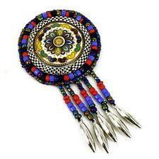 Costura Parche bolsa Decoración Inca Kuchi Afgano Banjara Tribal cuentas Af24