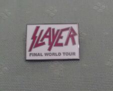 "SLAYER ""FINAL WORLD TOUR"" PIN BADGE...NEW"