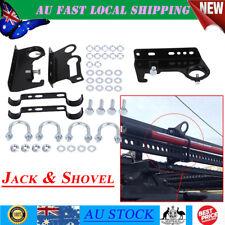 Shovel + High Lift Farm Jack Mount 4X4 Offroad Roof Rack Holder Bracket AU Ship