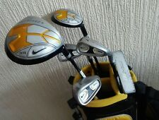 RIGHT HANDED SET OF NIKE SQ MACHSPEED KIDS GOLF IRONS.