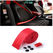 Red Polyester Fiber Adjustable Webbing Seat Belt For Most Car With 3 Bolt Point
