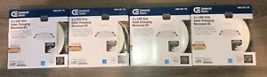 """Commercial Electric Ultra Slim 4"""" Color Changing LED Recessed Trim. Lot of 4."""