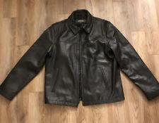 Kenneth Cole Reaction Black Leather Jacket Mens Size L