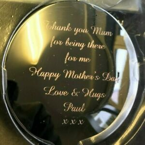 Personalised Engraved Compact Mirror - Round