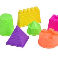 6 Pcs/Set Beach Toy Kids Play Modeling Plasticine Toy Baby DIY Castle Sand Molds